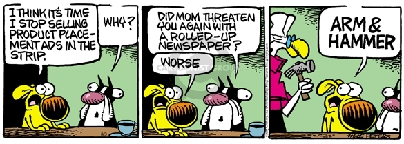 Comic Strip Mike Peters  Mother Goose and Grimm 2009-08-03 product placement