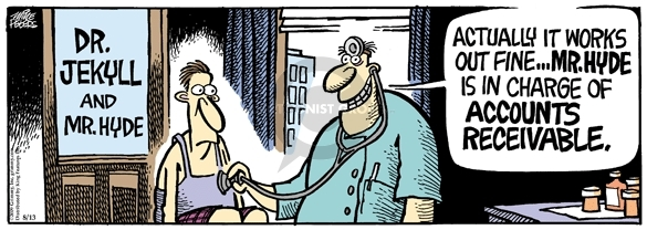 Comic Strip Mike Peters  Mother Goose and Grimm 2009-08-13 patient