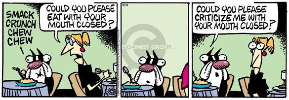 Comic Strip Mike Peters  Mother Goose and Grimm 2009-08-24 etiquette