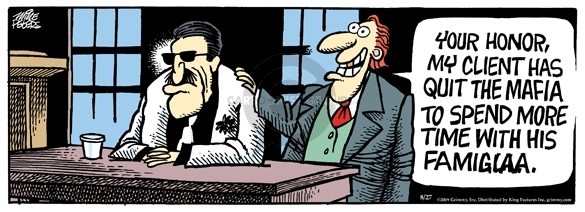 Comic Strip Mike Peters  Mother Goose and Grimm 2009-08-27 attorney