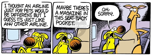 Comic Strip Mike Peters  Mother Goose and Grimm 2009-09-10 traveler
