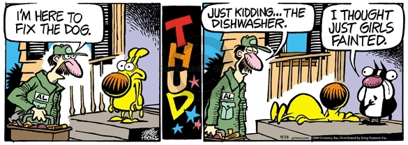 Comic Strip Mike Peters  Mother Goose and Grimm 2009-09-18 dishwasher