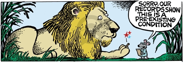Comic Strip Mike Peters  Mother Goose and Grimm 2009-09-19 lion