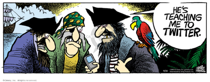 Comic Strip Mike Peters  Mother Goose and Grimm 2009-09-24 pirate