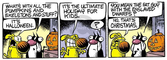 Comic Strip Mike Peters  Mother Goose and Grimm 2009-10-27 Halloween
