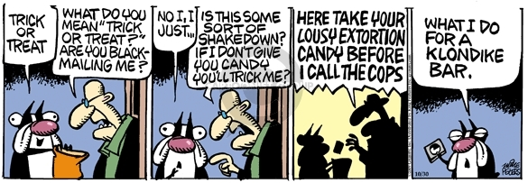 Comic Strip Mike Peters  Mother Goose and Grimm 2009-10-30 klondike