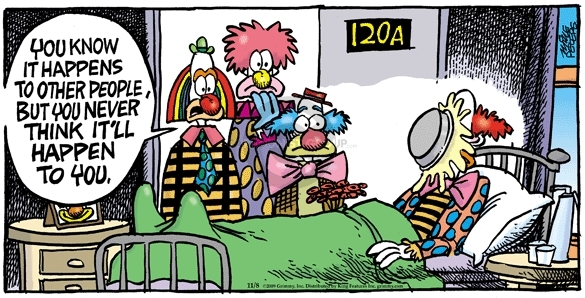 Comic Strip Mike Peters  Mother Goose and Grimm 2009-11-08 clown