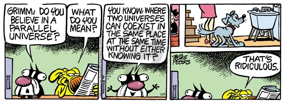 Comic Strip Mike Peters  Mother Goose and Grimm 2009-11-09 universe