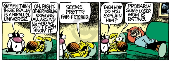 Comic Strip Mike Peters  Mother Goose and Grimm 2009-11-10 mom