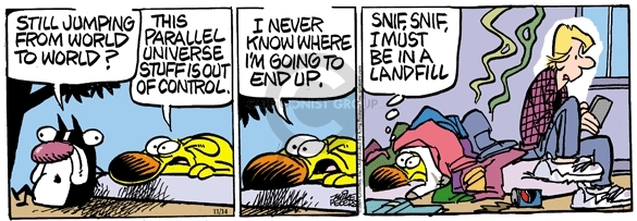 Comic Strip Mike Peters  Mother Goose and Grimm 2009-11-14 universe