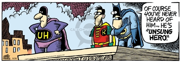 Comic Strip Mike Peters  Mother Goose and Grimm 2009-11-28 Batman Robin