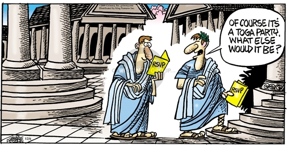Comic Strip Mike Peters  Mother Goose and Grimm 2009-12-06 ancient Greece