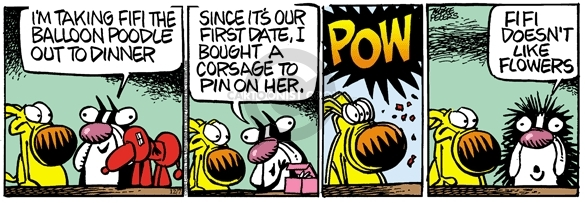 Comic Strip Mike Peters  Mother Goose and Grimm 2009-12-07 dinner date