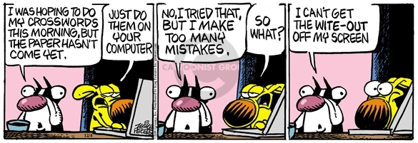 Comic Strip Mike Peters  Mother Goose and Grimm 2009-12-04 make