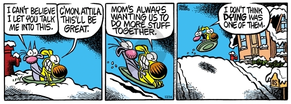 Comic Strip Mike Peters  Mother Goose and Grimm 2009-12-16 recreation
