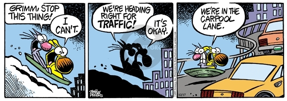 Comic Strip Mike Peters  Mother Goose and Grimm 2009-12-17 traffic