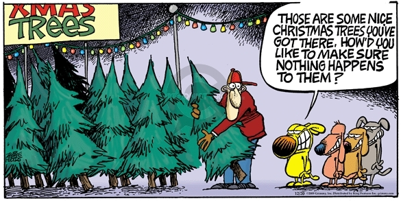 Comic Strip Mike Peters  Mother Goose and Grimm 2009-12-20 tree
