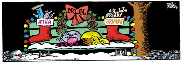 Comic Strip Mike Peters  Mother Goose and Grimm 2009-12-26 dog and cat