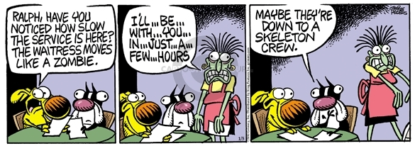 Comic Strip Mike Peters  Mother Goose and Grimm 2010-01-05 undead