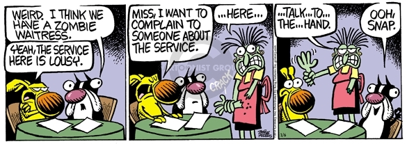 Comic Strip Mike Peters  Mother Goose and Grimm 2010-01-06 diner