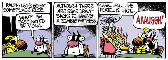Comic Strip Mike Peters  Mother Goose and Grimm 2010-01-07 zombie movie
