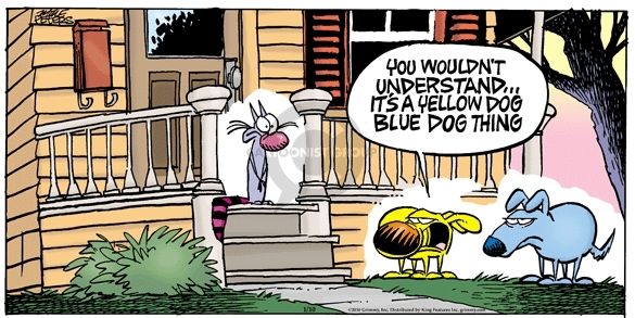 Cartoonist Mike Peters  Mother Goose and Grimm 2010-01-10 yellow
