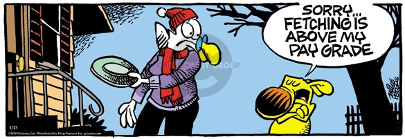 Comic Strip Mike Peters  Mother Goose and Grimm 2010-01-13 playing