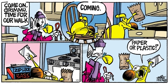 Comic Strip Mike Peters  Mother Goose and Grimm 2010-01-31 doggie bag
