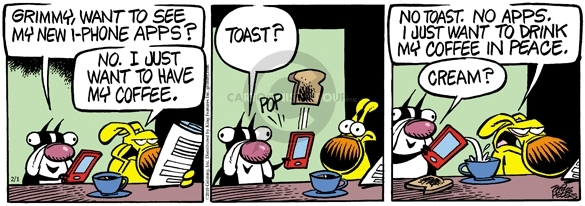 Comic Strip Mike Peters  Mother Goose and Grimm 2010-02-01 breakfast food