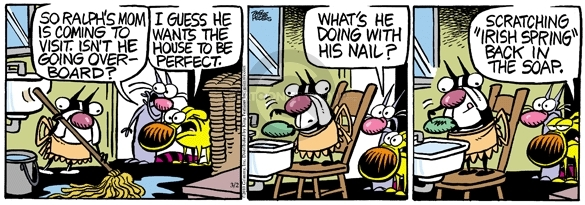 Comic Strip Mike Peters  Mother Goose and Grimm 2010-03-02 visit