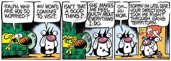 Comic Strip Mike Peters  Mother Goose and Grimm 2010-03-03 apprehension