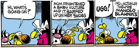 Comic Strip Mike Peters  Mother Goose and Grimm 2010-03-16 throw up