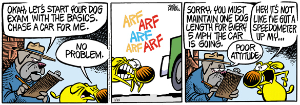 Comic Strip Mike Peters  Mother Goose and Grimm 2010-03-25 arf