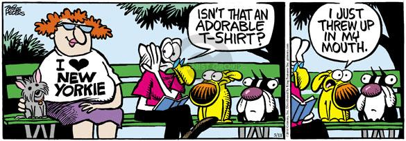 Comic Strip Mike Peters  Mother Goose and Grimm 2010-05-11 nausea