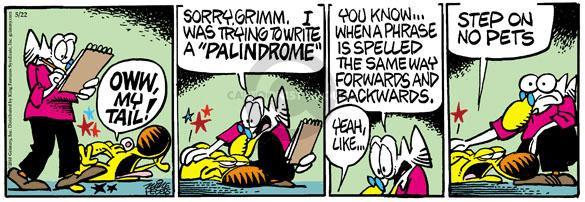 Comic Strip Mike Peters  Mother Goose and Grimm 2010-05-22 writing