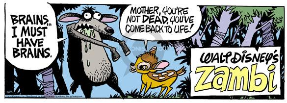 Comic Strip Mike Peters  Mother Goose and Grimm 2010-05-28 zombie movie