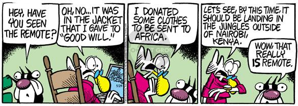 Comic Strip Mike Peters  Mother Goose and Grimm 2010-05-29 clothes