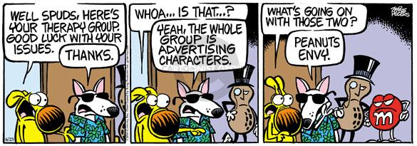 Comic Strip Mike Peters  Mother Goose and Grimm 2010-06-23 marketing advertising