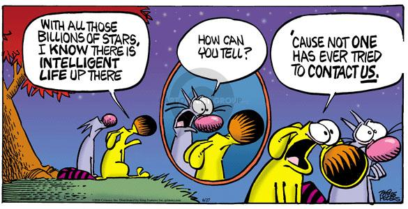 Comic Strip Mike Peters  Mother Goose and Grimm 2010-06-27 extraterrestrial