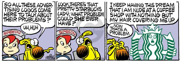 Comic Strip Mike Peters  Mother Goose and Grimm 2010-07-01 marketing advertising