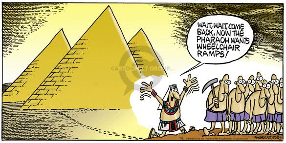 Cartoonist Mike Peters  Mother Goose and Grimm 2010-07-04 pharaoh
