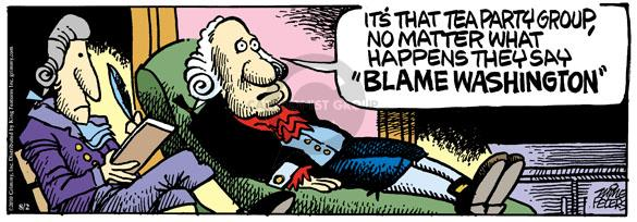 Comic Strip Mike Peters  Mother Goose and Grimm 2010-08-02 George