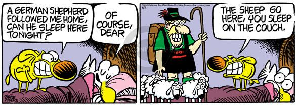 Comic Strip Mike Peters  Mother Goose and Grimm 2010-08-05 bed