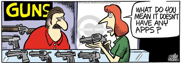 Comic Strip Mike Peters  Mother Goose and Grimm 2010-08-12 gun