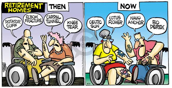 Comic Strip Mike Peters  Mother Goose and Grimm 2010-08-15 aging body