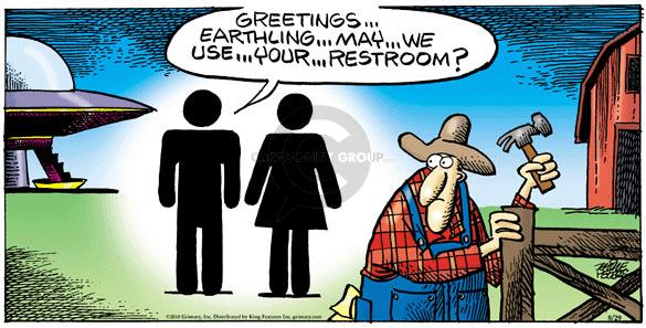 Greetings … Earthling … May … we … use … your … restroom?