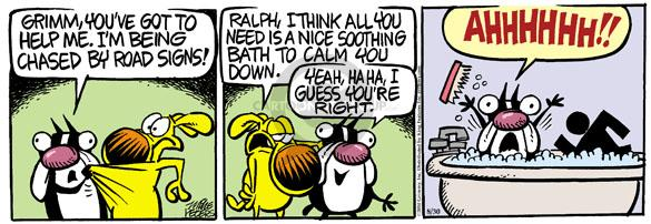 Comic Strip Mike Peters  Mother Goose and Grimm 2010-08-30 symbol