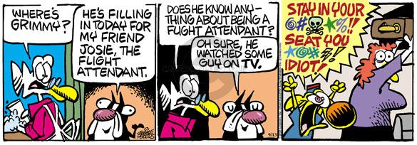 Comic Strip Mike Peters  Mother Goose and Grimm 2010-09-13 rudeness
