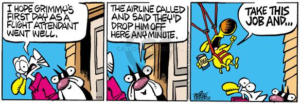 Cartoonist Mike Peters  Mother Goose and Grimm 2010-09-15 airline travel