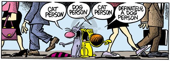 Comic Strip Mike Peters  Mother Goose and Grimm 2010-09-22 dog and cat